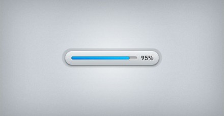 Progress bar PSD freebie