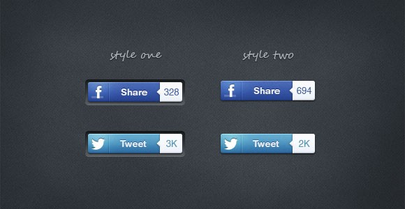 Social share buttons free PSD