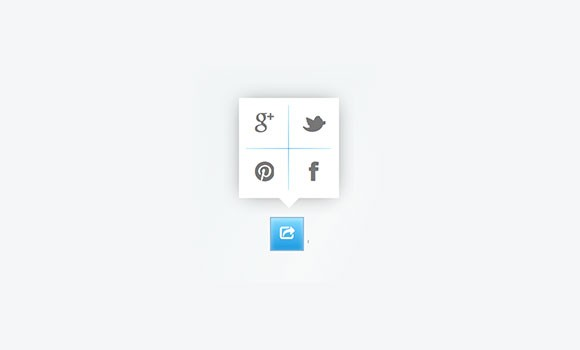 Social share css snippet