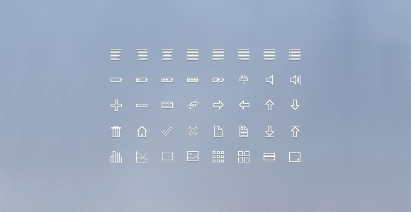 16px icons PSD