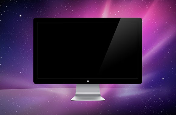 Apple monitor PSD mockup