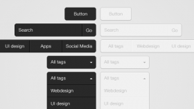 Clean drop down UI PSD