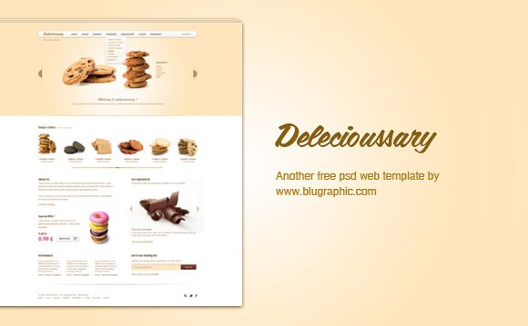 Delicioussary free PSD website template