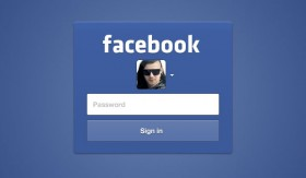 Facebook Login form free PSD