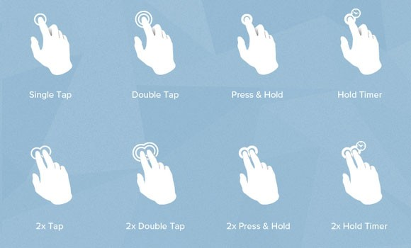 Gesture icons free PSD