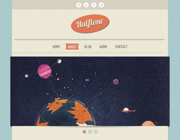 Halftone HTML template