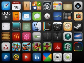 iOS icon pack free PSD