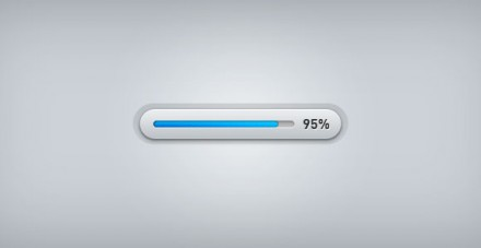 Light progress bar free PSD