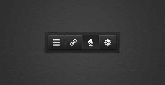 Toolbar buttons PSD