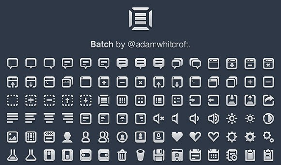 Batch - 300 Pictographs free PSD icons