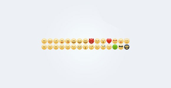 Emoticons free PSD