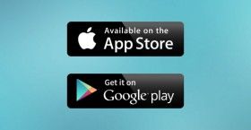 Google play & Apple store badges free PSD
