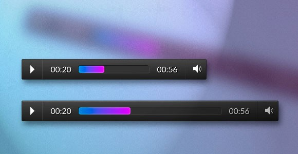 Responsive css audio player