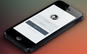 Free PSD mobile login form