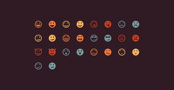 Free PSD simple emoticons