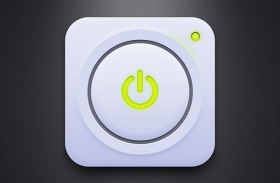 White power button PSD