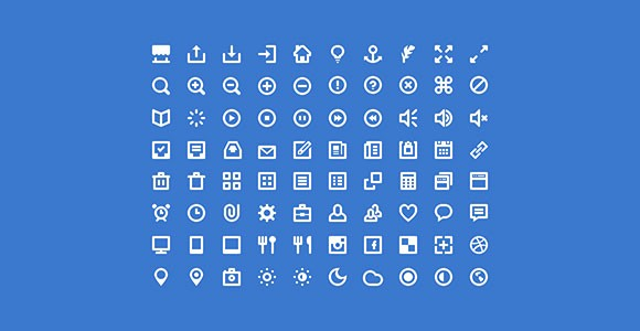 80 Shades of White Icons PSD & icon font