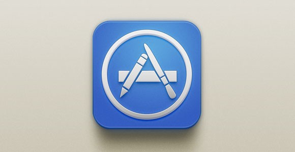 App Store iOS PSD icon