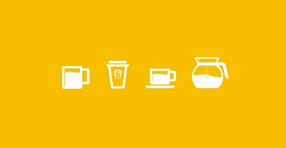 Coffee cups PSD icons