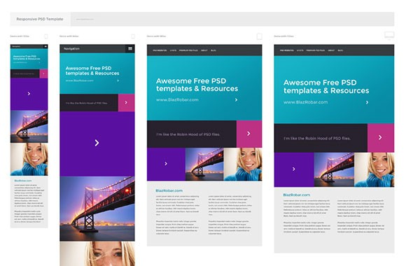 Free PSD responsive template