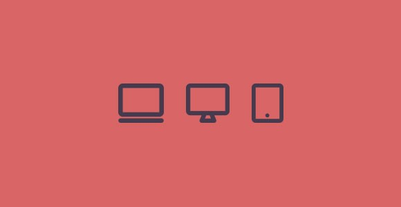 Monitor devices flat PSD icons