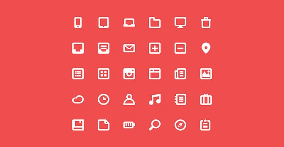 30 new free PSD icons