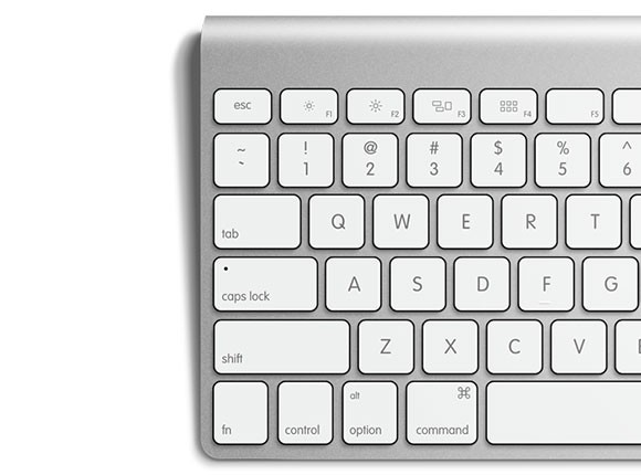 Apple keyboard free PSD mockup