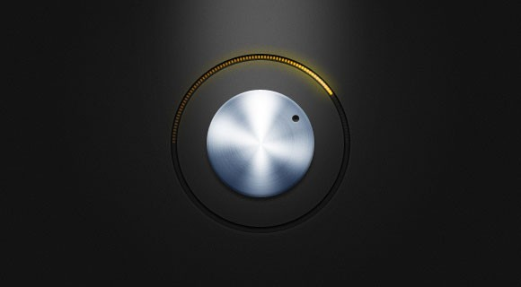 Free PSD metal knob with yellow led lights
