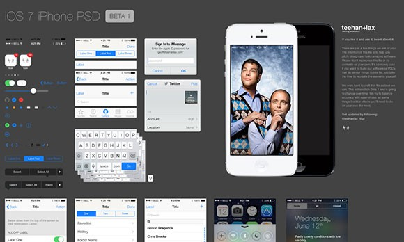 Free iOS GUI PSD download
