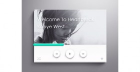 Fancy PSD music player