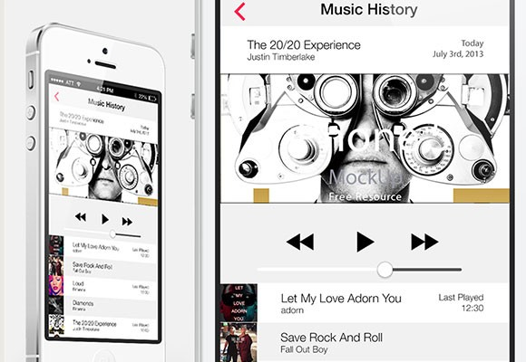 Music history for iOS7