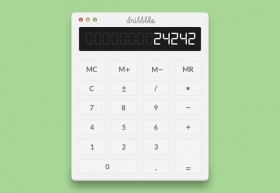 Simple calculator PSD
