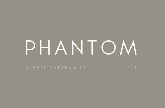 Phantom free typefamily