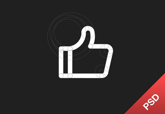 Thumb up PSD icon