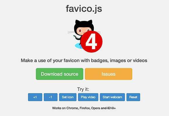 Favico.js - Animated badges for favicons
