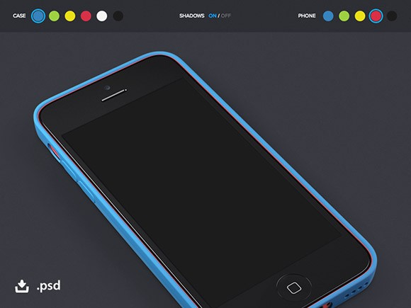iPhone5c + case mockup