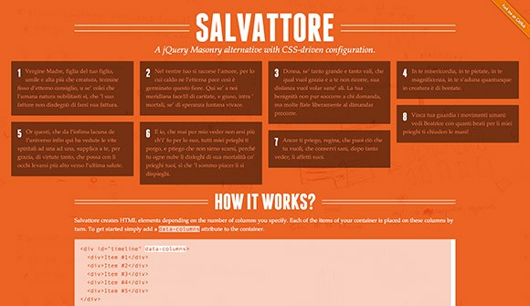 Salvattore - jQuery Masonry layouts