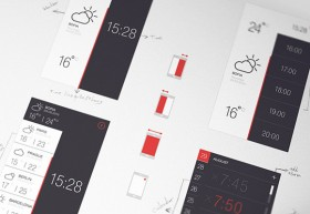 Weather & Time PSD app 2