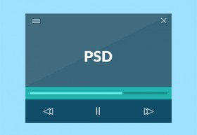 Flat & minimal video player
