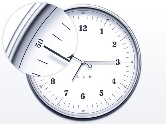 Simple and elegant clock PSD