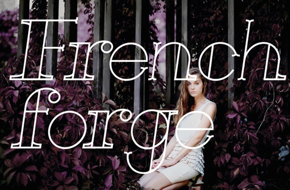 French forge free font