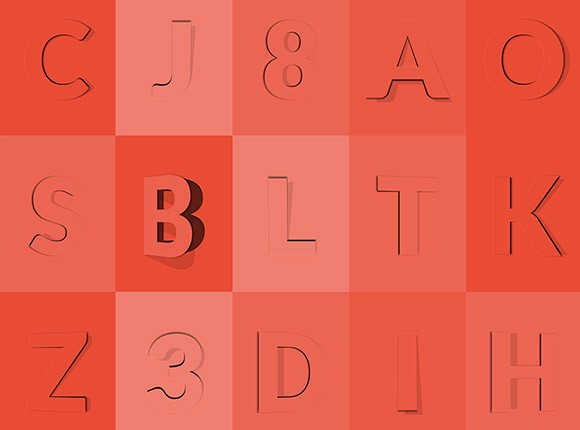 Animated 3D opening type effect