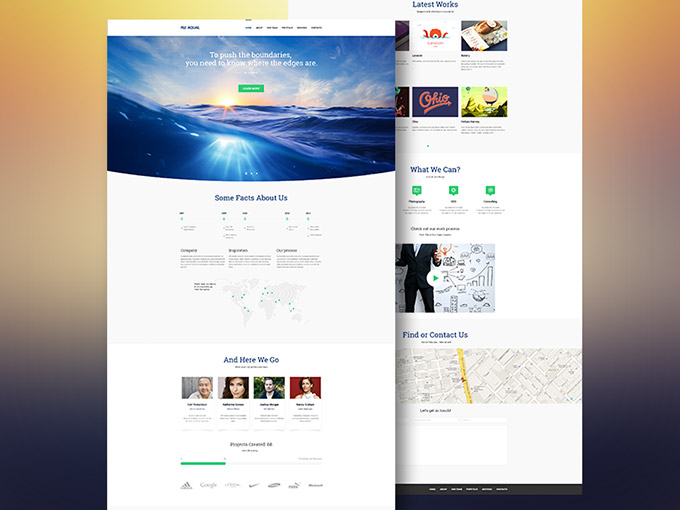 Aqual - Free website template