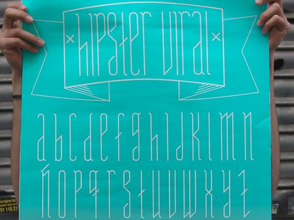 Hipster Viral free font