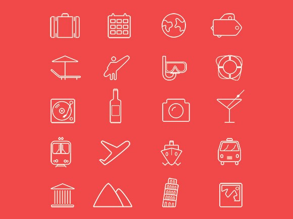 20 mixed icons - PSD + AI