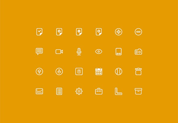 24 small icons PSD