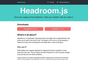 Headroom.js - A plugin for hiding headers