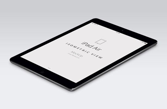 iPad Air perspective mockup
