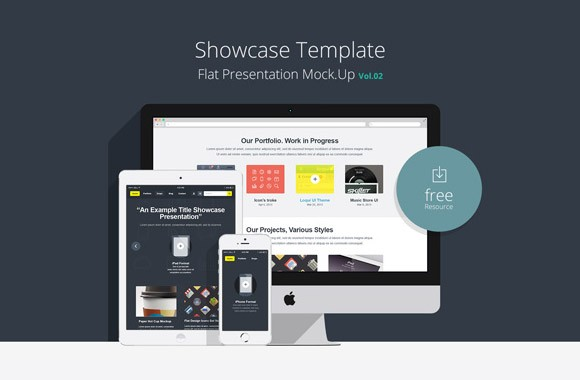 Flat responsive showcase Vol2