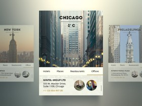 Free PSD city widgets